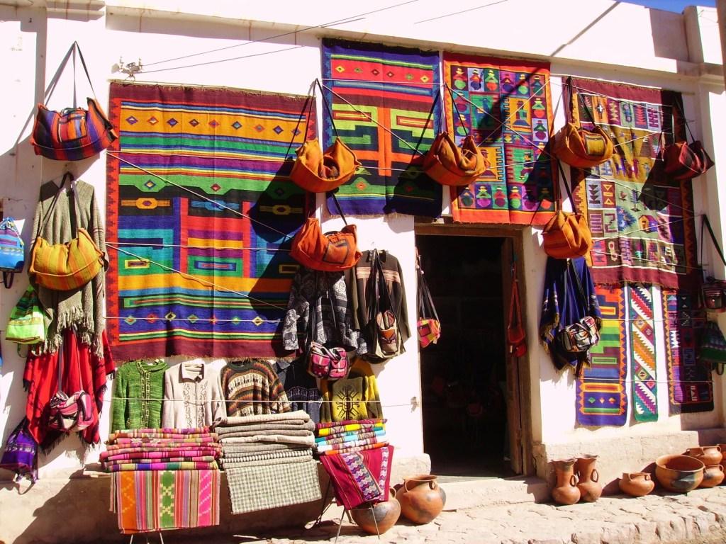 Colorful Artisan Shop in Purmamarca, Argentina
