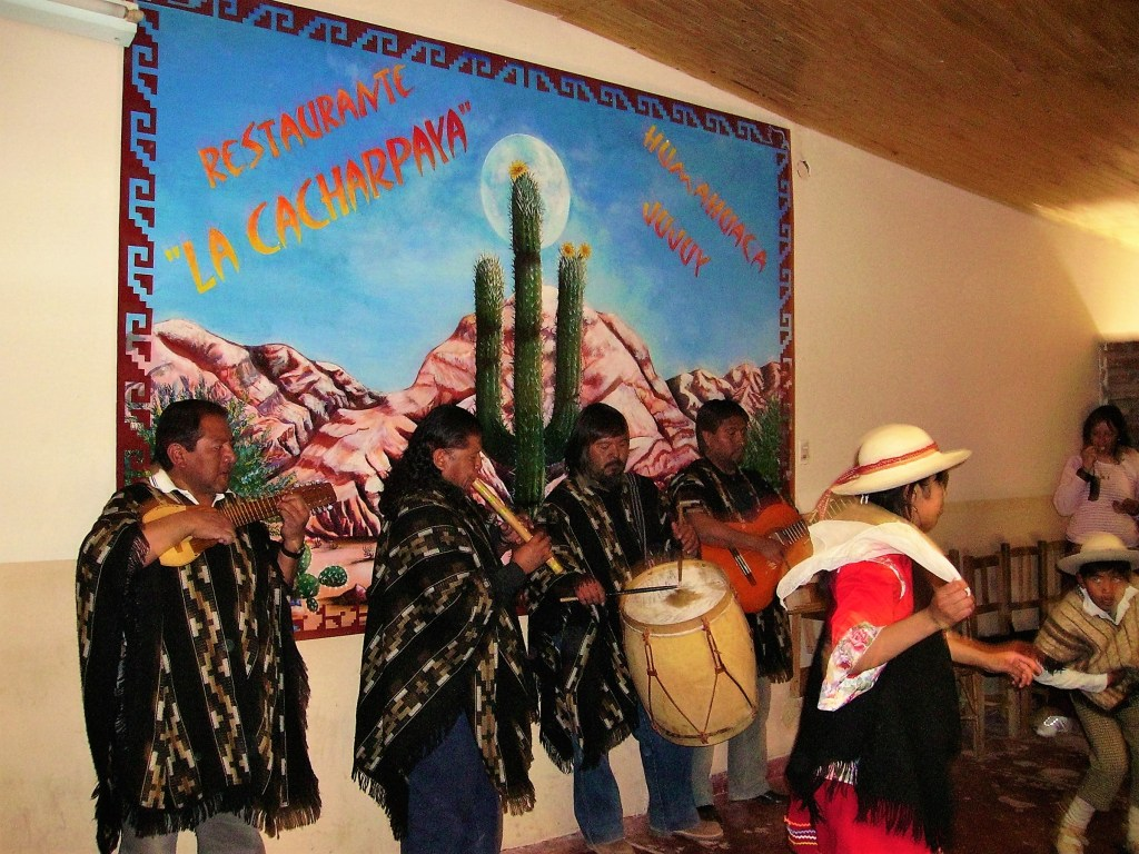 Many restaurants entertain guests with live music and shows, Humahuaca, Argentina