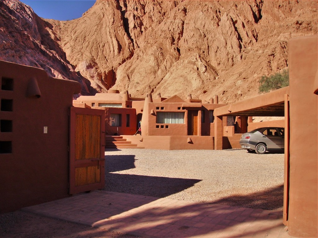 Many hotels, hostels, and posadas to be found in la Quebrada de Humahuaca, Argentina