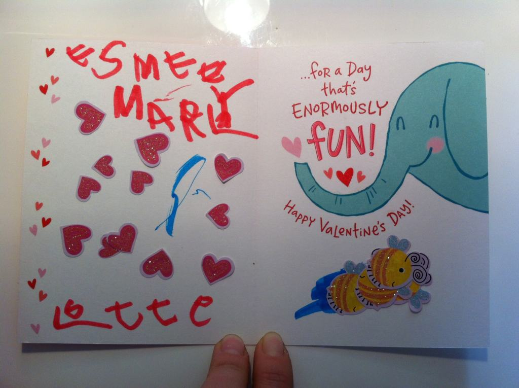 Valentine Cards: a good example of the excitement of receiving regular mail