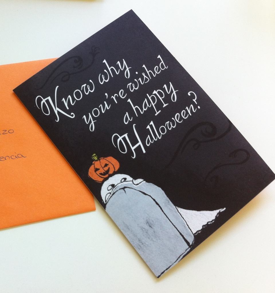 Sending a card for Halloween or other special holidays is fun!