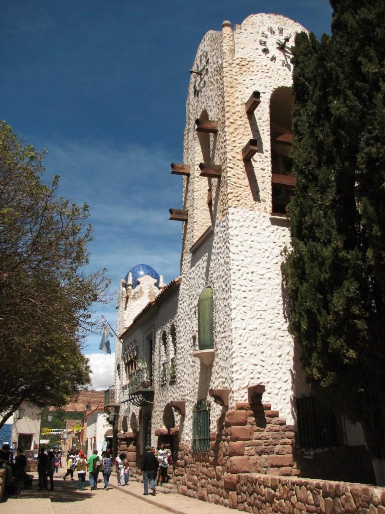 Clock tower of the San Francisco Solano church in Humahuaca, Argentina