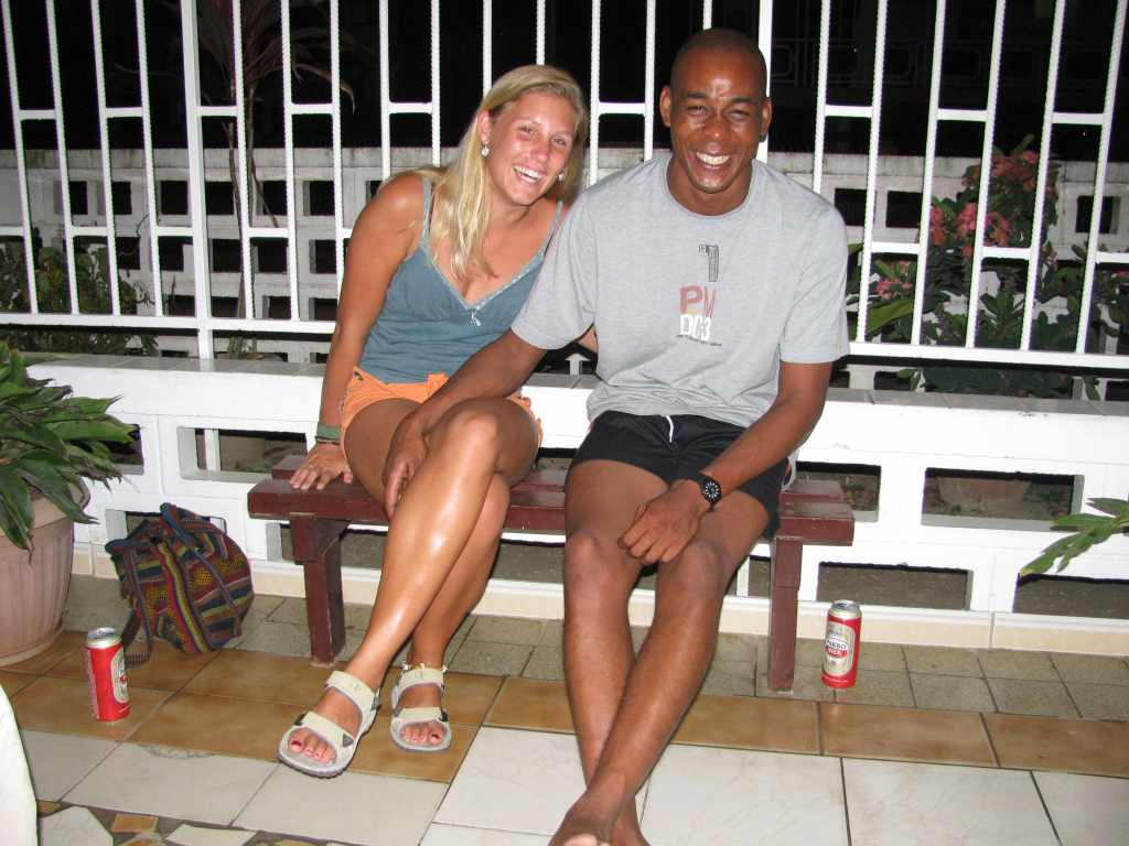 Ryan and I sitting on our terrace in Paramaribo
