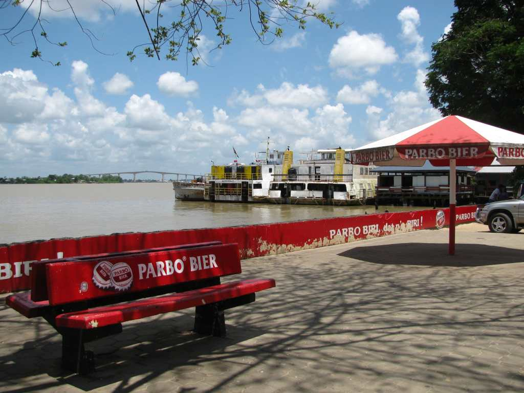 View over the river from the Waterkant, Paramaribo, Suriname