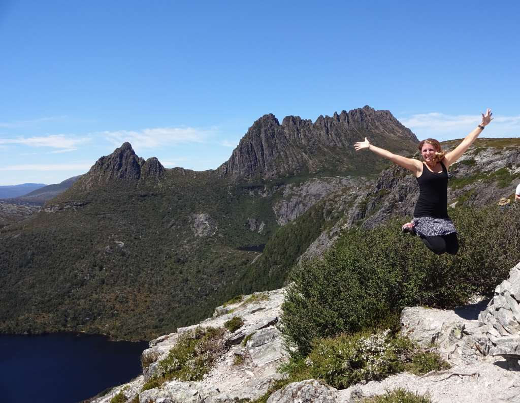 Marion's Lookout with Cradle Mountain in the back, Cradle Mountain National Park, Tasmania