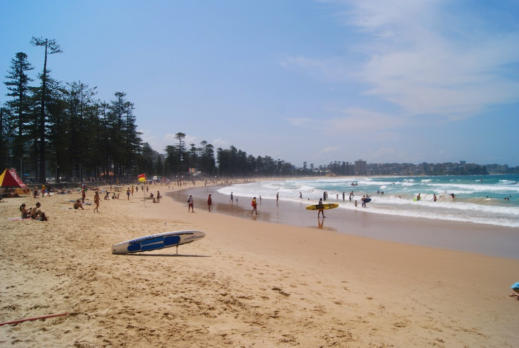 Manly Beach, one of the Northern Beaches of Sydney, and just a short ferry ride from Circular Quay