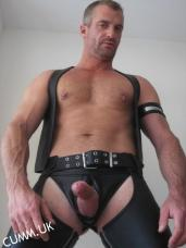 Mindful Masturbation leather daddy