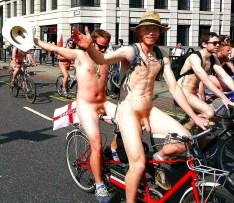 naked bike ride london cocks