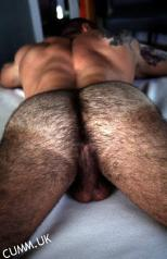sexy man arse hairy
