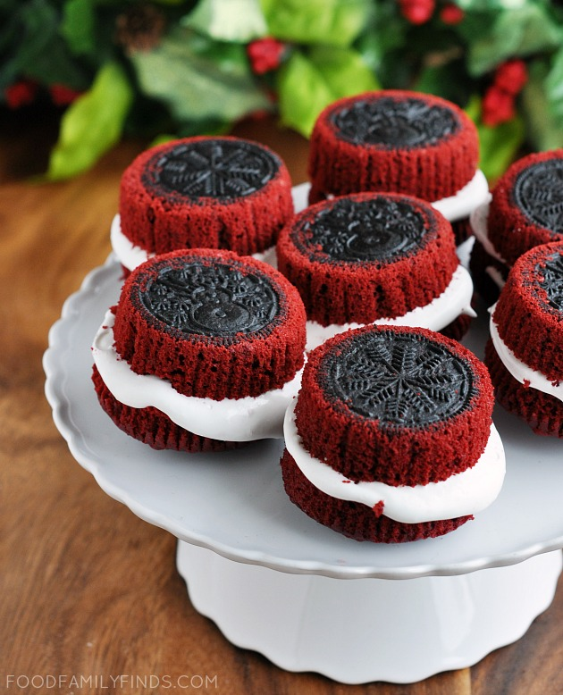 Holiday Oreo Stuffed Cupcakes