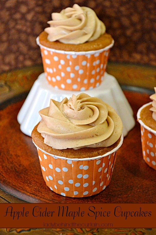 Apple Cider Maple Spice Cupcakes