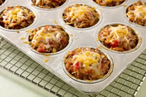 Cheesy Salsa Mini Meatloaves