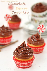 Eggnog Cupcakes with Chocolate Cream Cheese Frosting