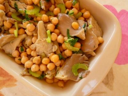 ひよこ豆とキノコのサラダ