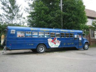 food bus in Sydney, Nova Scotia, where we might have eaten if the wind had not been strong enough to blow the soup out of the bowls