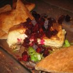 Bleu Cheese, Cheese Cake with Roasted Beets