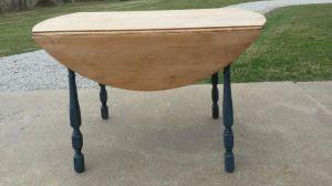 Deb's table in progress