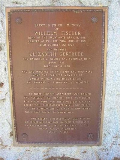 Elizabeth Gerturde Fischer Memorial