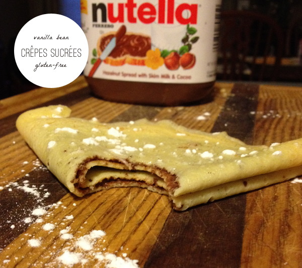 gluten free vanilla bean crepes sucrees