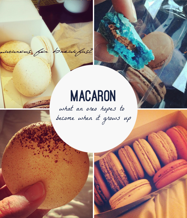 collage of gluten-free macarons