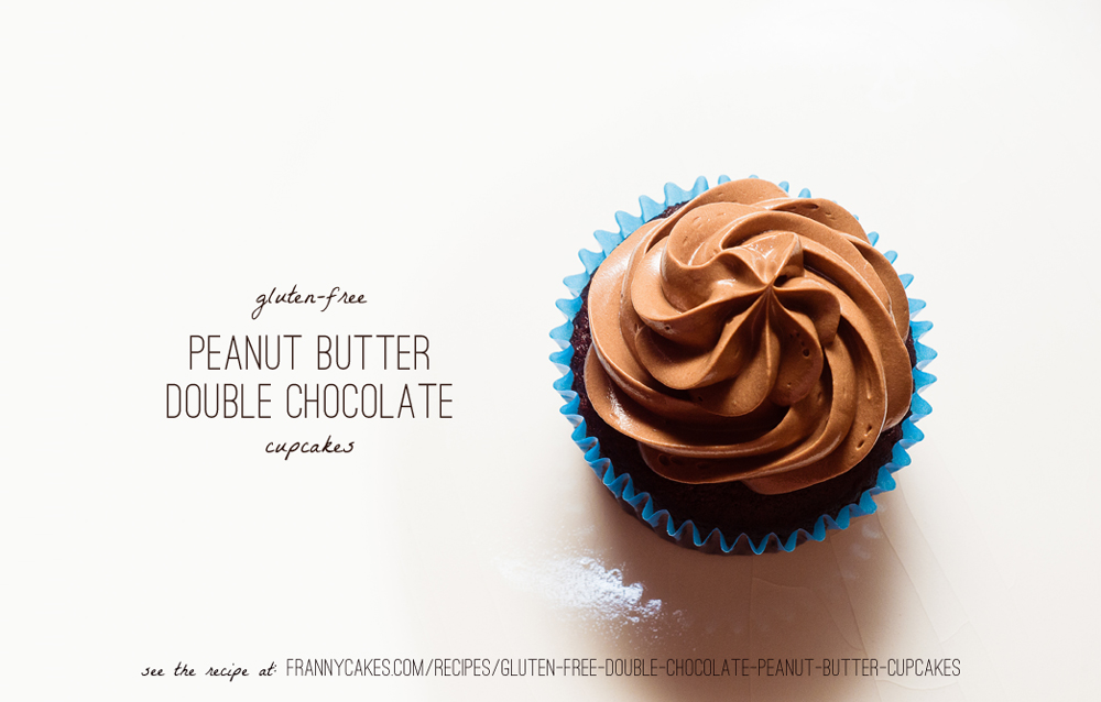gluten-free double chocolate peanut butter cupcakes from frannycakes