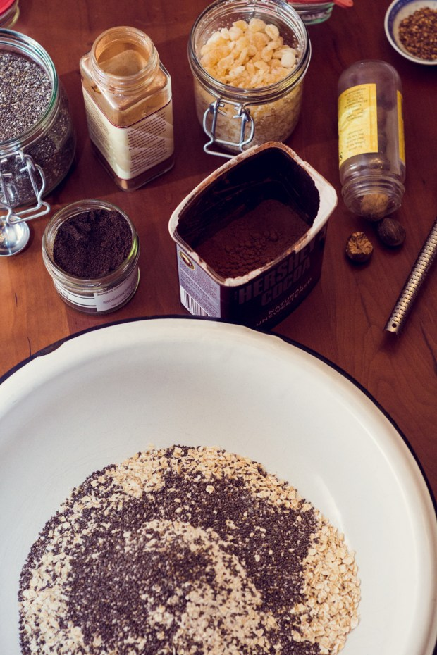 ingredients for home made gluten-free instant oatmeal from frannycakes