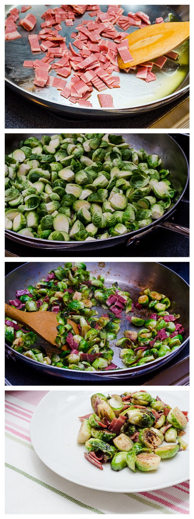 making charred brussels sprouts with fig glaze