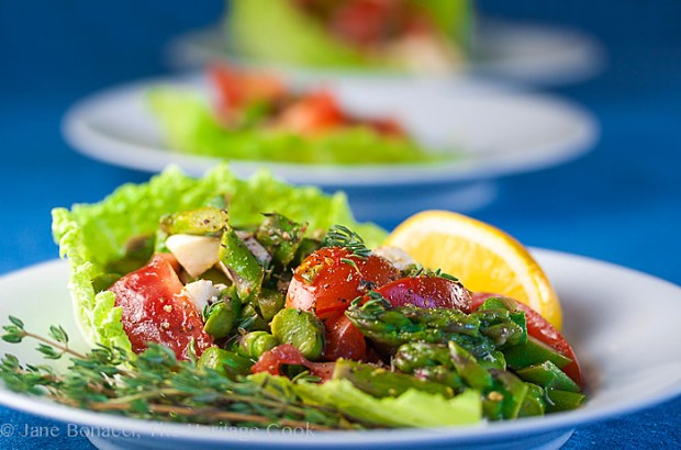 Asparagus Tomato Mozzarella Salad by Jane Bonacci on FrannyCakes
