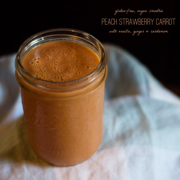 peach strawberry carrot smoothie | a gluten-free recipe from frannycakes