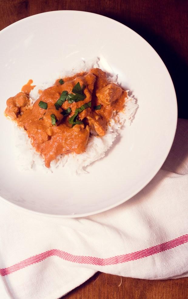 gluten-free chicken tikka masala recipe from frannycakes