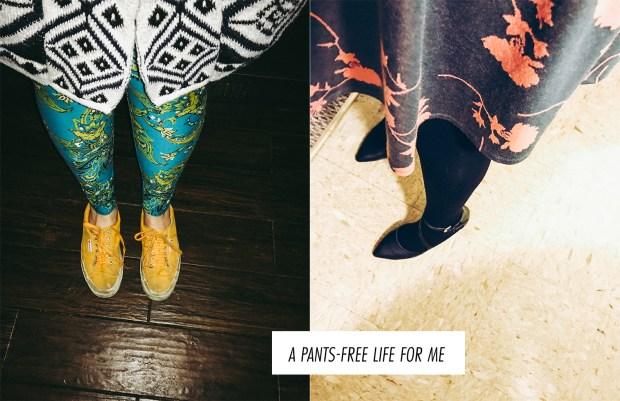 Pants-free life