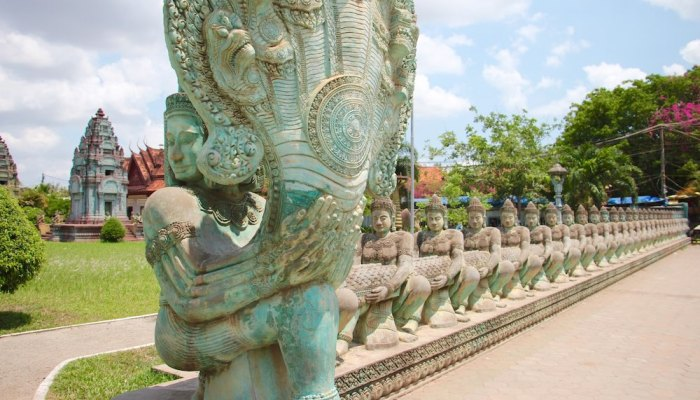 The mysterious blue temple in Siem Reap