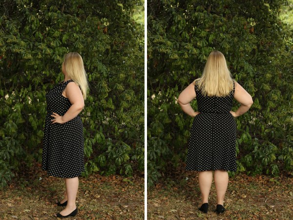 Black and White Polka Dots - Colette Myrtle - Idle Fancy- side and back