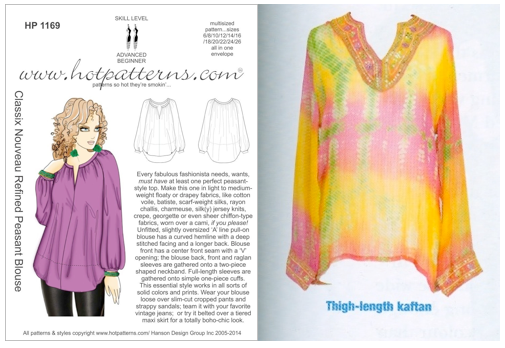 HotPatterns Peasant blouse and suggested Bell blouse