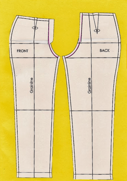 Shortened front crotch curve