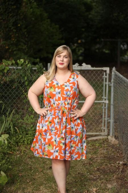 Idle Fancy - Papercut Sway Dress - Orange Tropical Floral (4)