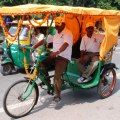 Getting Around Agra, cycle rickshaw