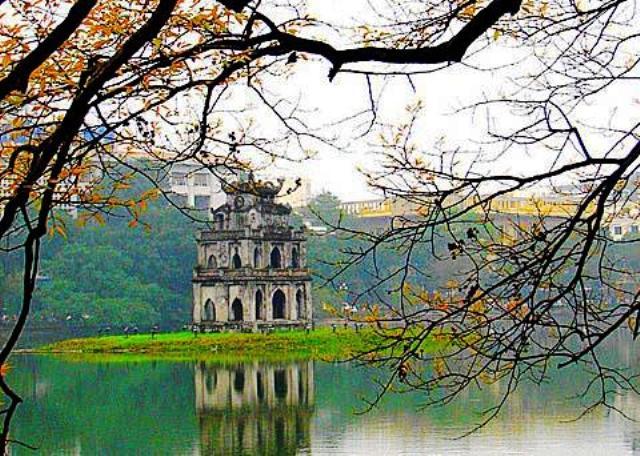 Hoan Kiem Lake in Hanoi