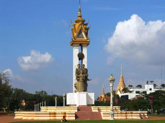 Liberation Memorial in Phnom Penh
