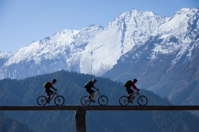 mountain, biking, nepal