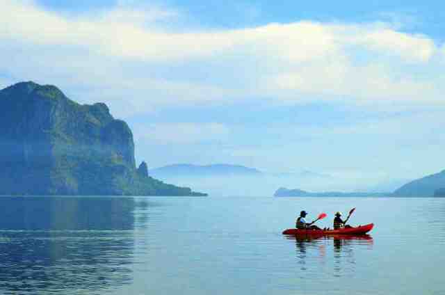 sea kayak, palawan, island activity