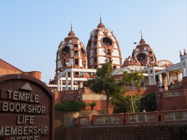 iskcon, temple, india, new delhi