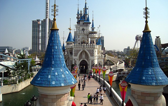 lotte world, korea, seoul, theme park