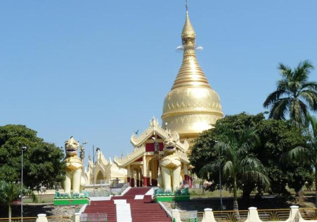 maha wizaya pagoda, myanmar, attraction