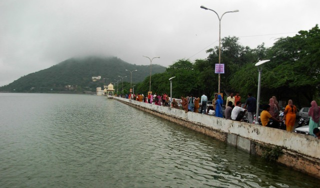 fateh sagar lake, india, udaipur