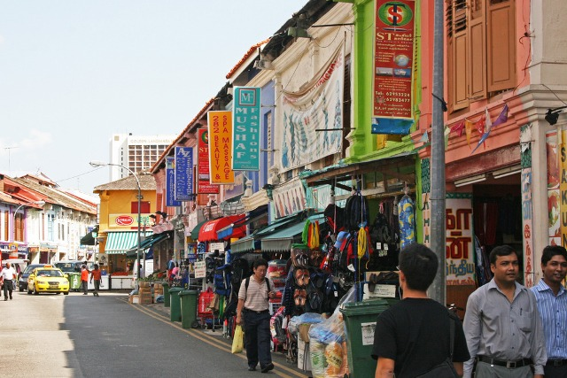 little india, singapore, shopping area