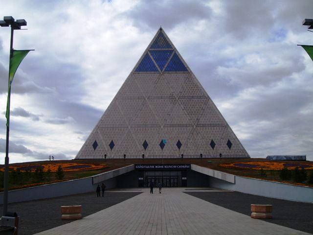 pyramid, kazakhstan, palace of peace,