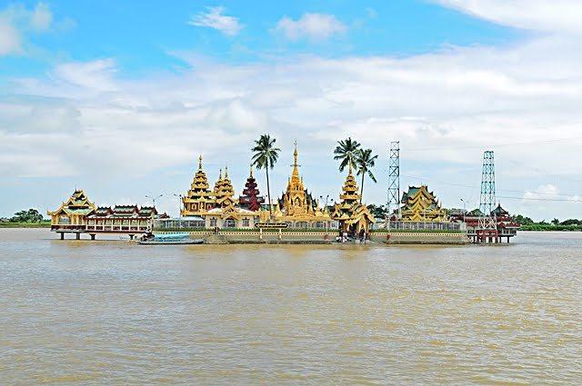 ye le pagoda, thanlyin, myanmar