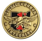 Courage Honor and Integrity Coin