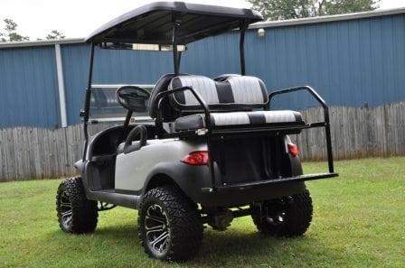 custom silver lifted club car precedent custom golf carts columbia sales service parts. Black Bedroom Furniture Sets. Home Design Ideas